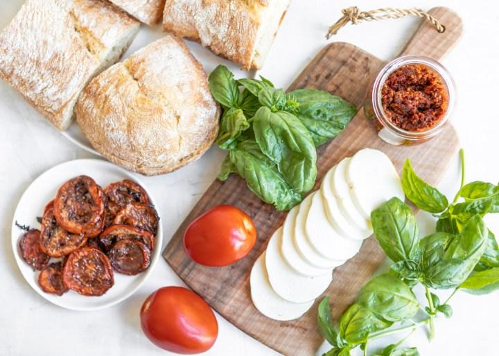 Panera-Inspired Tomato Mozzarella Panini