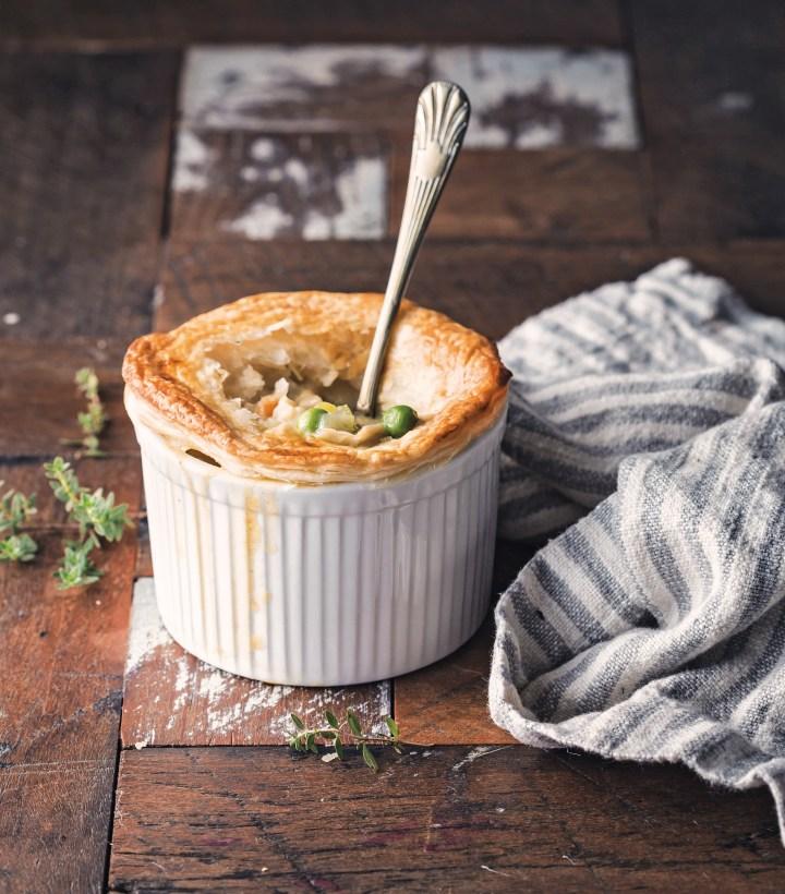 Vegan Chicken Pot Pie With Flaky Puff Pastry Crust Hello Veggie