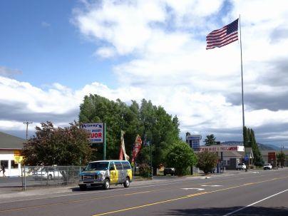 Flagpole in Dorris