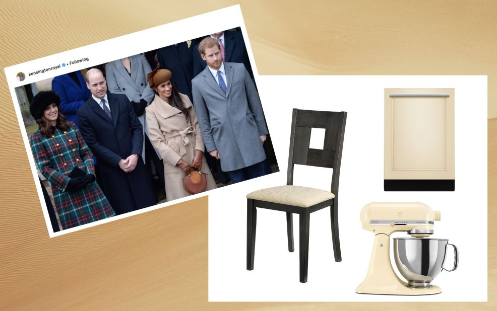 Prince Harry Meghan Markle decor mood board with monochromatic looks for their new home