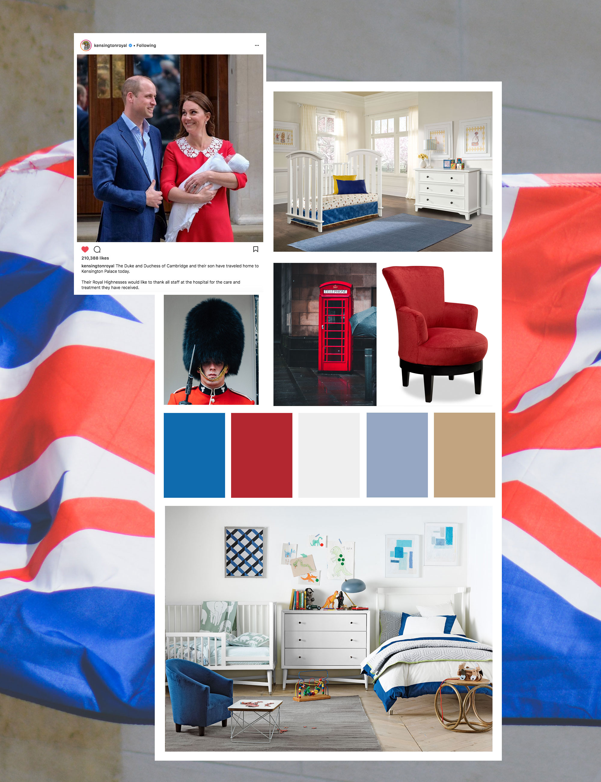 Prince Louis royal baby room decor inspiration mood board