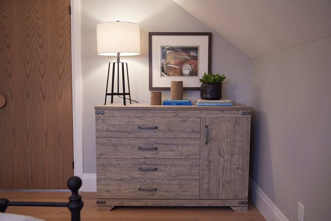 Home to win episode 4 guest room makeover gramado dresser