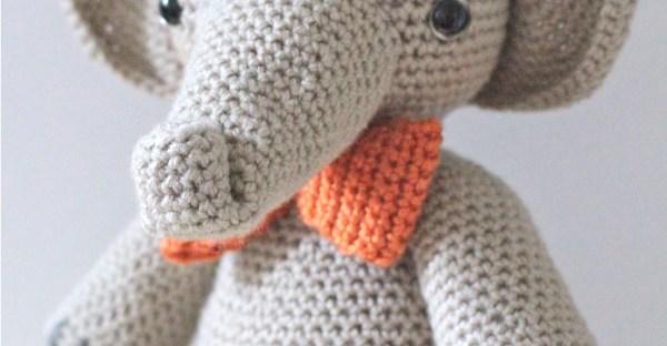 Pink crochet elephant pattern - Amigurumi Today | 312x600