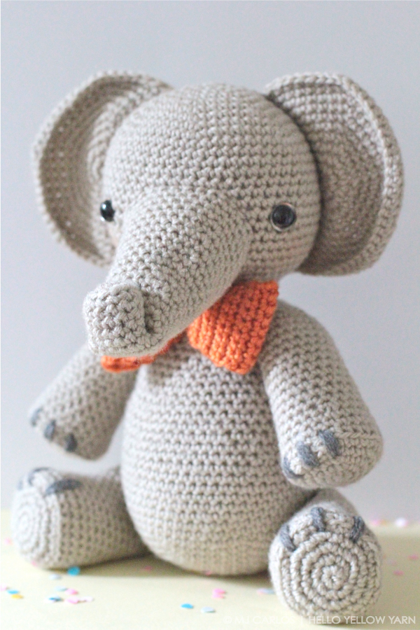 Crochet Elephant Softie and More Free Patterns Tutorials | 900x600