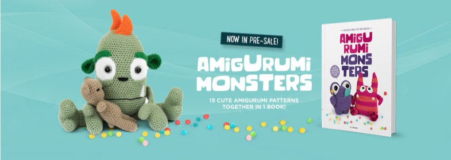 Meteoorbooks.com | Amigurumi Monsters 2 | 312x880