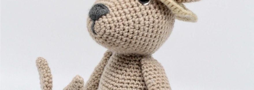 Mama Kangaroo Amigurumi Crochet Pattern | 312x880