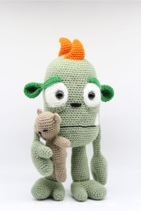 Scaredy Eddy and his Teddy Amigurumi Pattern