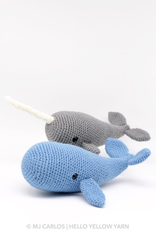 Walden the narwhal (or whale!) amigurumi pattern | hookabee | 750x500