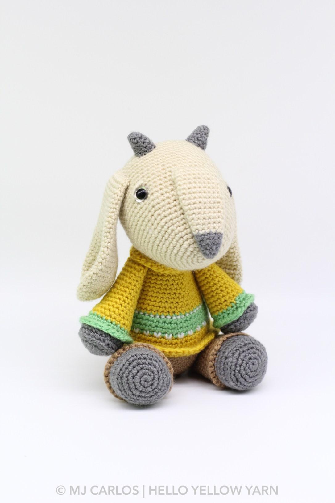 Gilbert the Goat Amigurumi Pattern