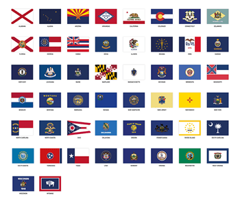 us state flag stickers