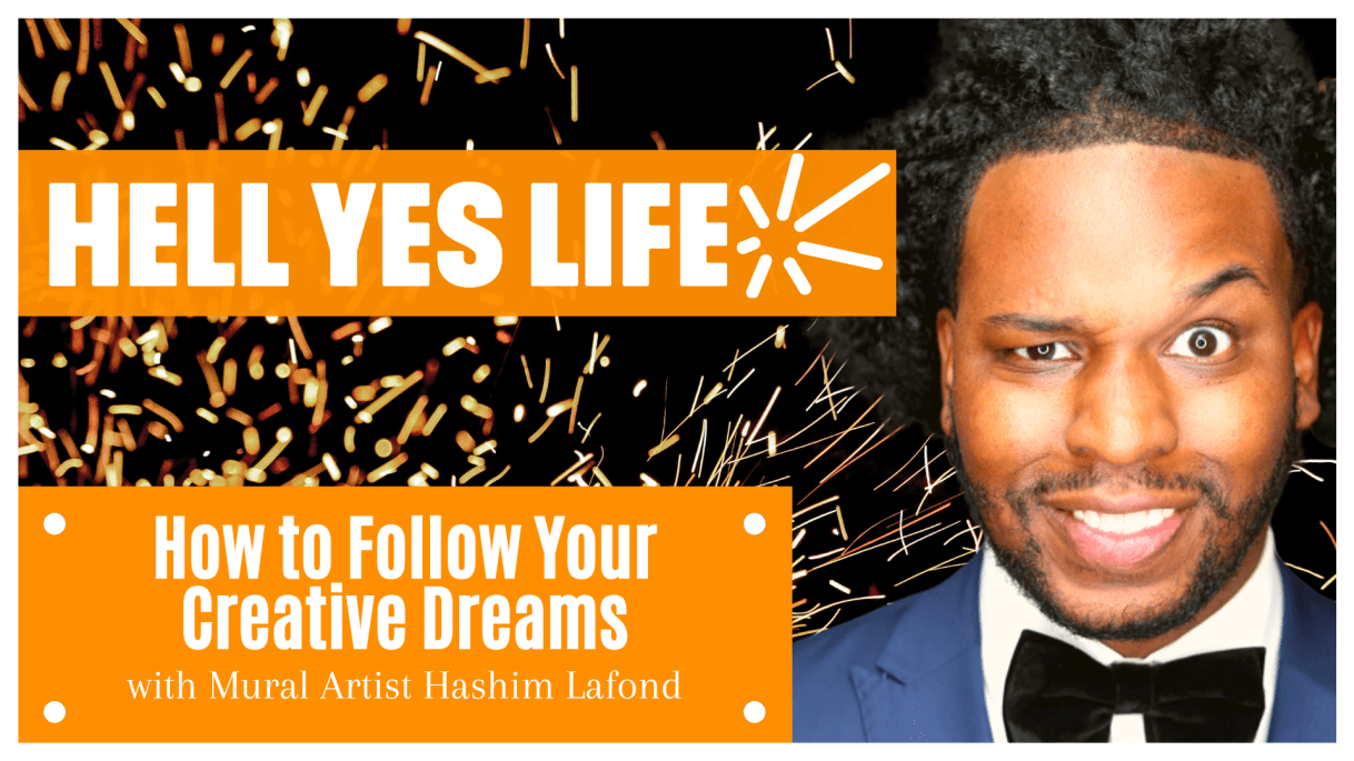 Hashim Lafond on the Hell Yes Life podcast with Norman Bell, on being creative, mural artist, painted Kobe Bryant mural
