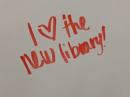 student comment love the new library