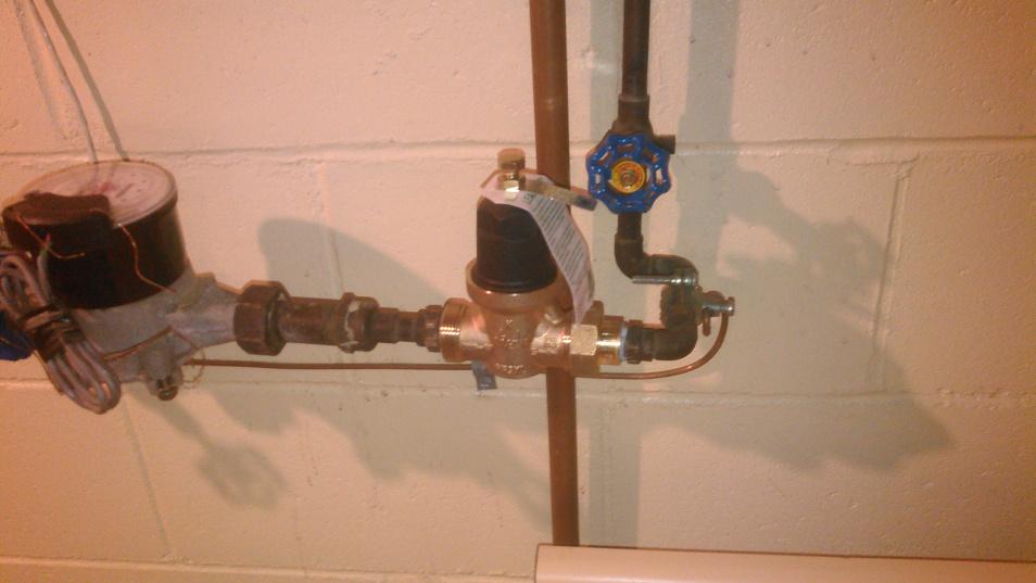 water pressure regulator replacement plumbing service water line repair