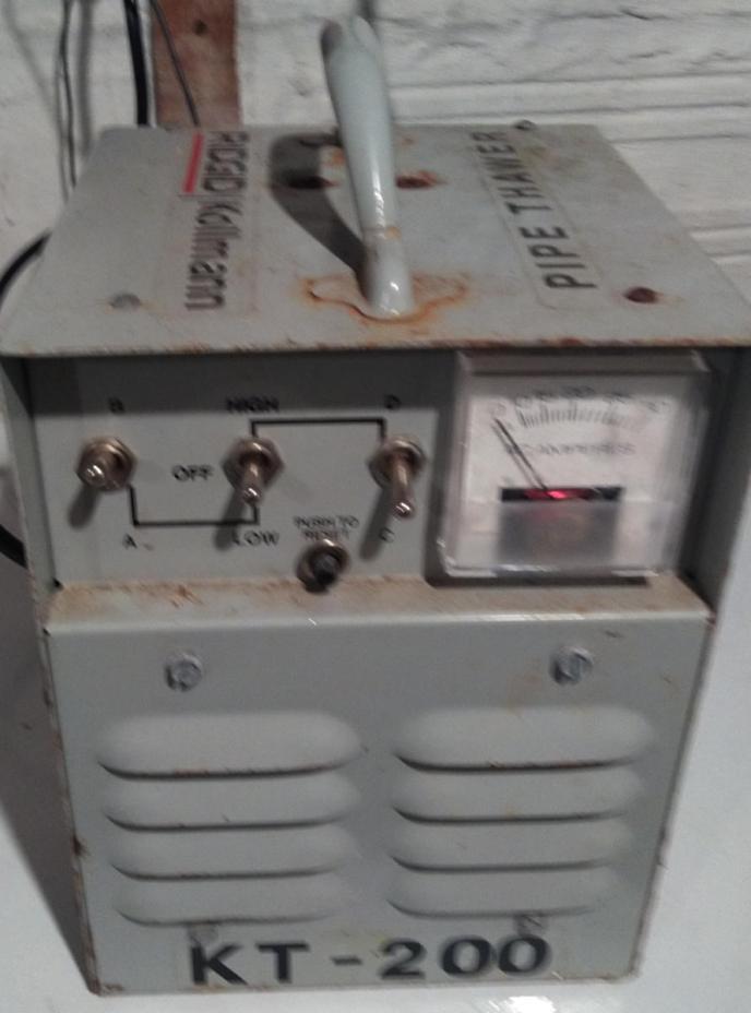 Bill Helmken Plumbing LLC's state of the art frozen pipe thaw machine