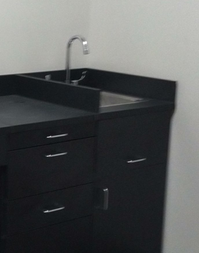 commercial hand sink with ADA faucet goose neck spout lever handles