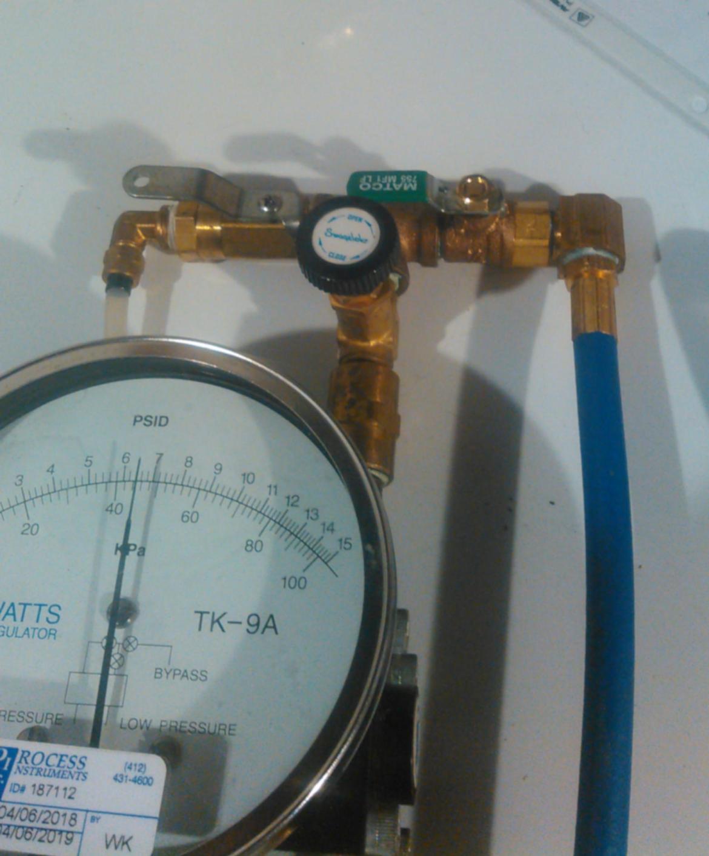 watts tk-9a backflow test gauge