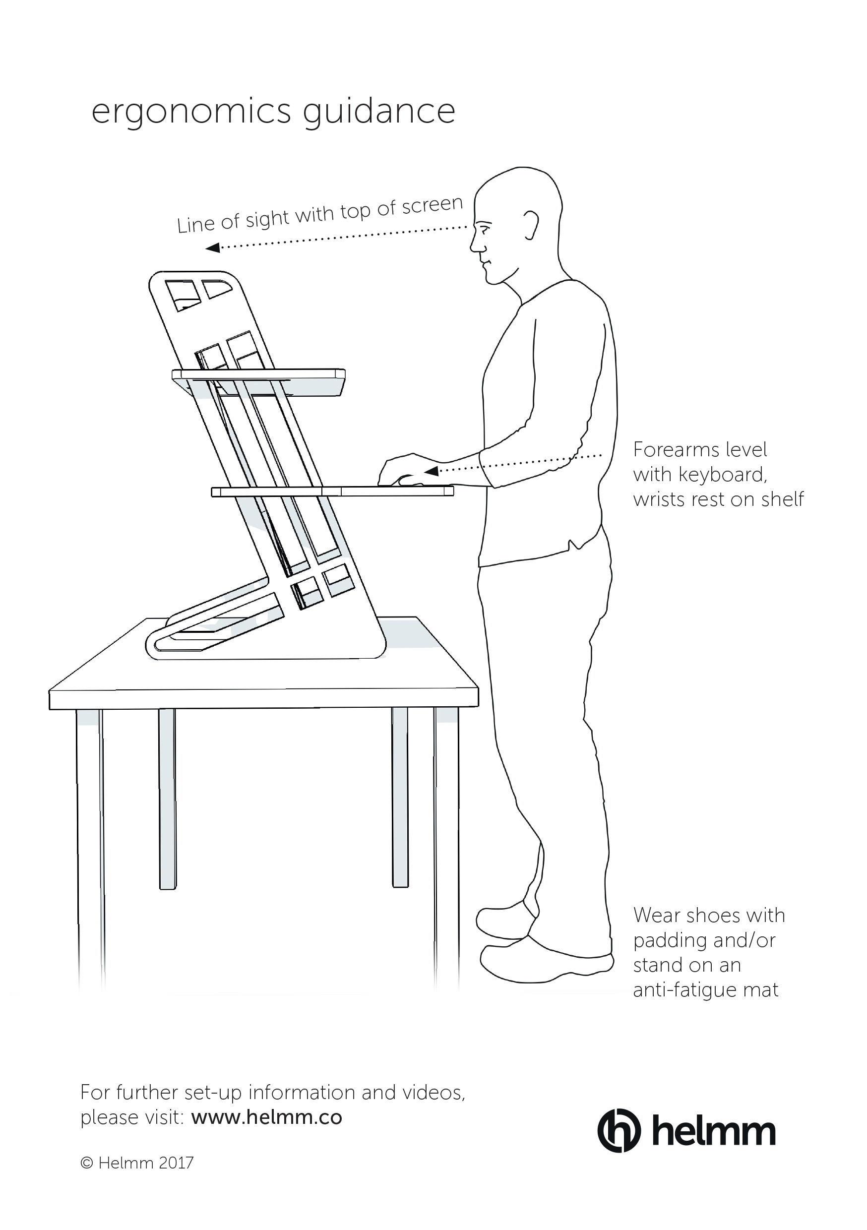 ergonomic workstation diagram receptacle split circuit 7 ways to stay in love with your standing desk helmm