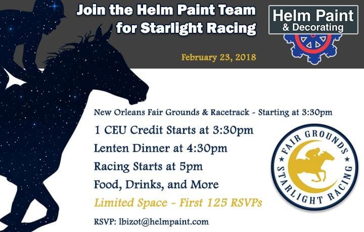 Helm Paint New Orleans Fairgrounds & Racetrack