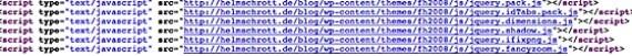 Firefox 3.1 Quelltextansicht