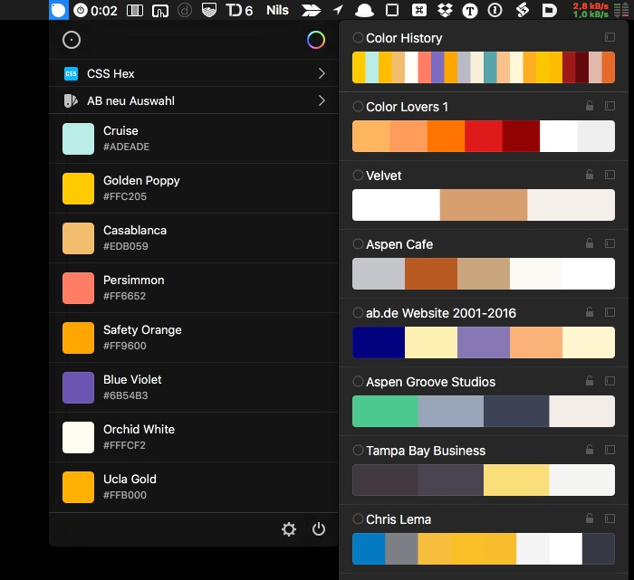 Sip App: Color Picker in der Menue Bar