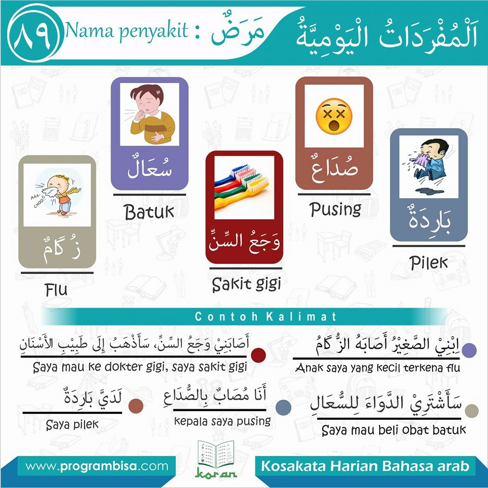 Kosakata Harian Bahasa Arab BISA 89
