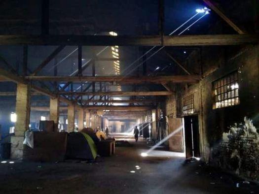 Campo de refugiados en serbia
