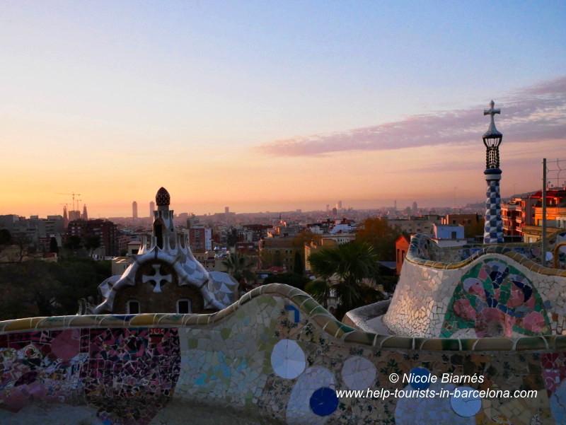 Park Guell Barcelona Sonnenaufgang