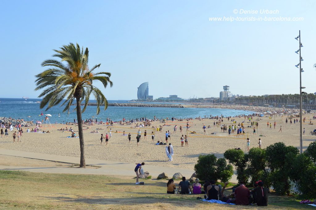 Am Strand Barcelona