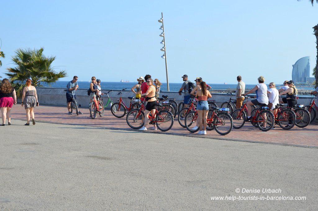 Fahrradtour Strand Barcelona
