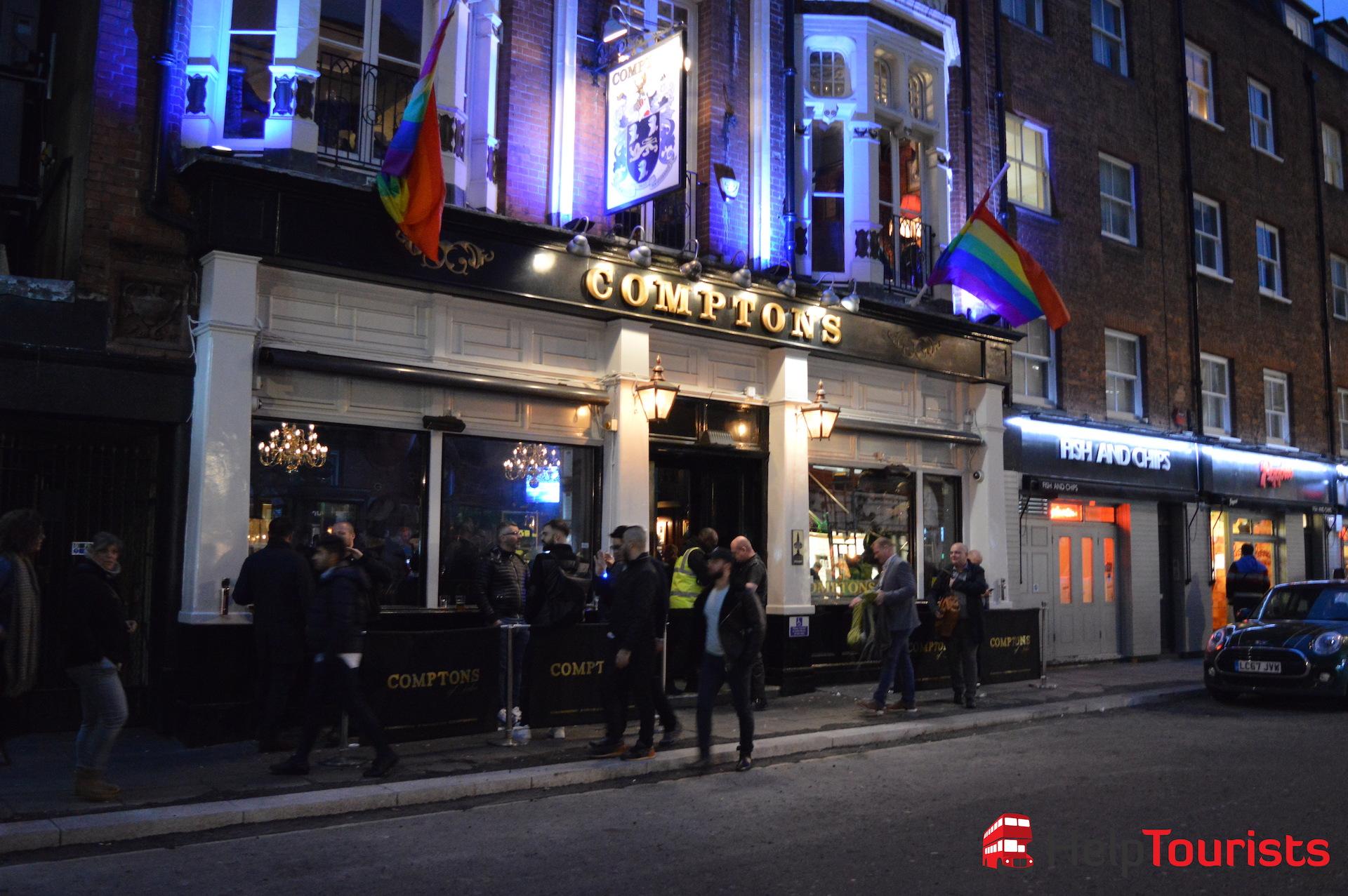 Comptons Bar Pub in Soho London