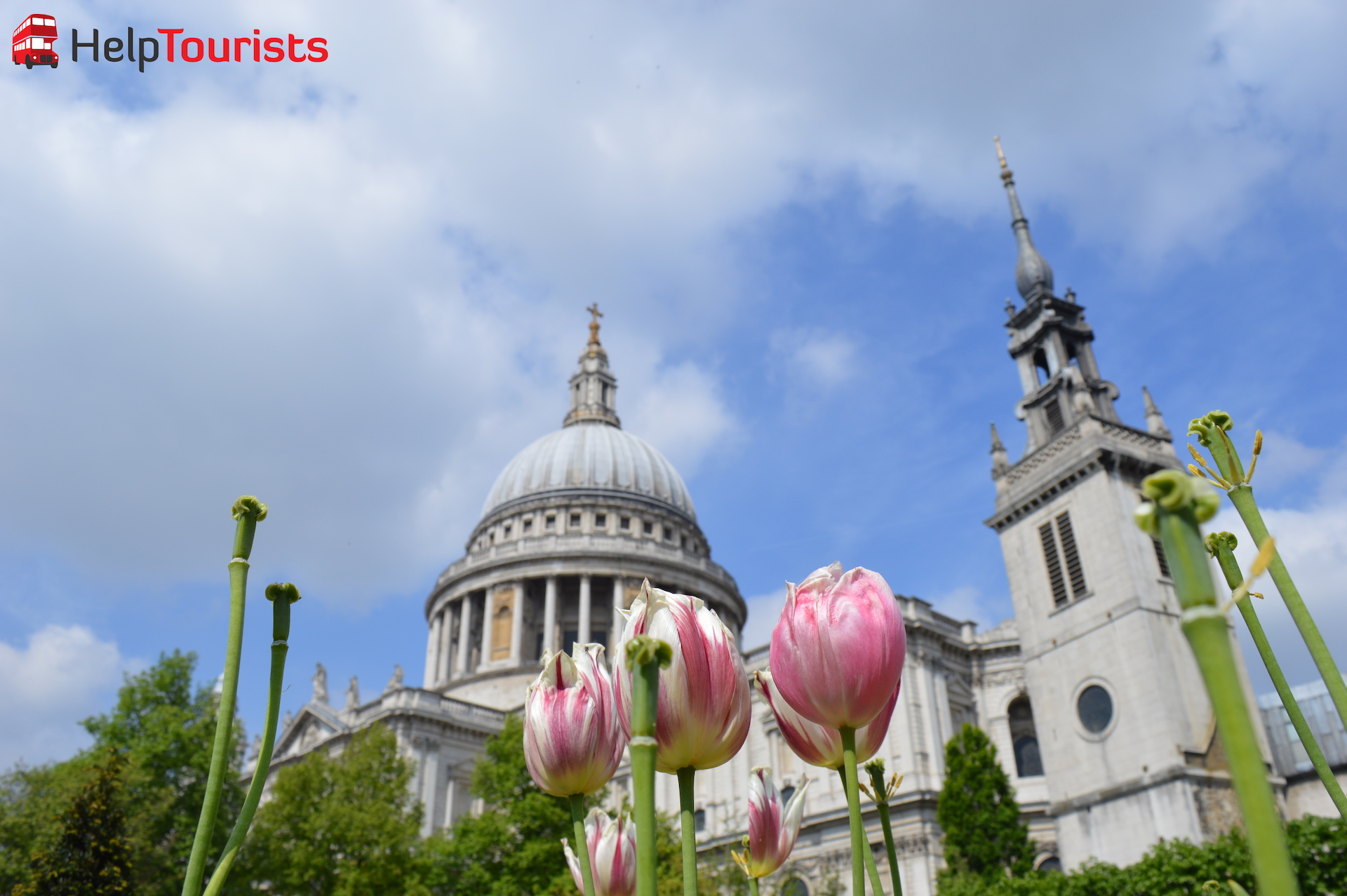 Frühling in London St Paul's Kathedrale