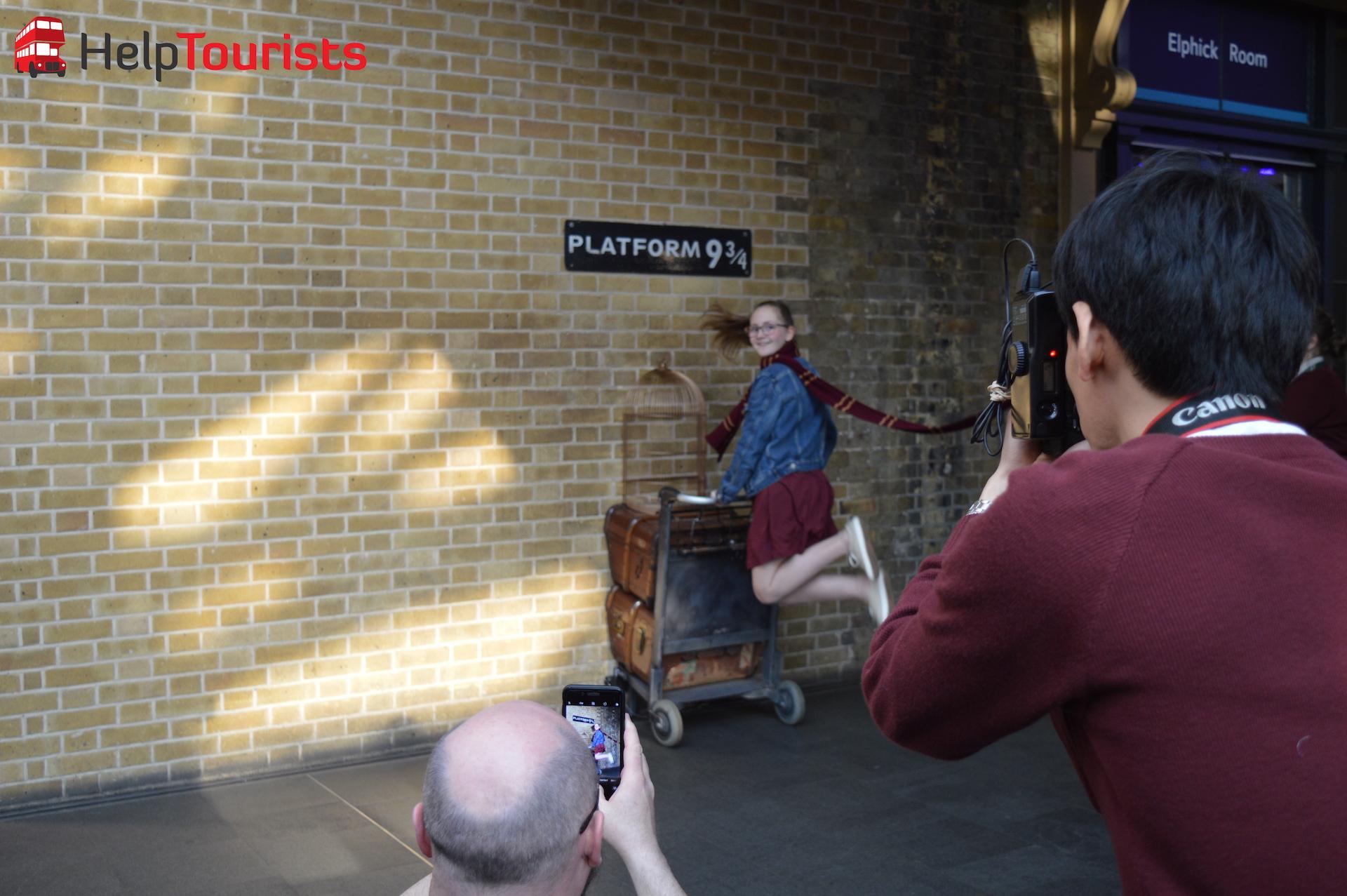 Gleis 9 3:4 Bahnhof King's Cross