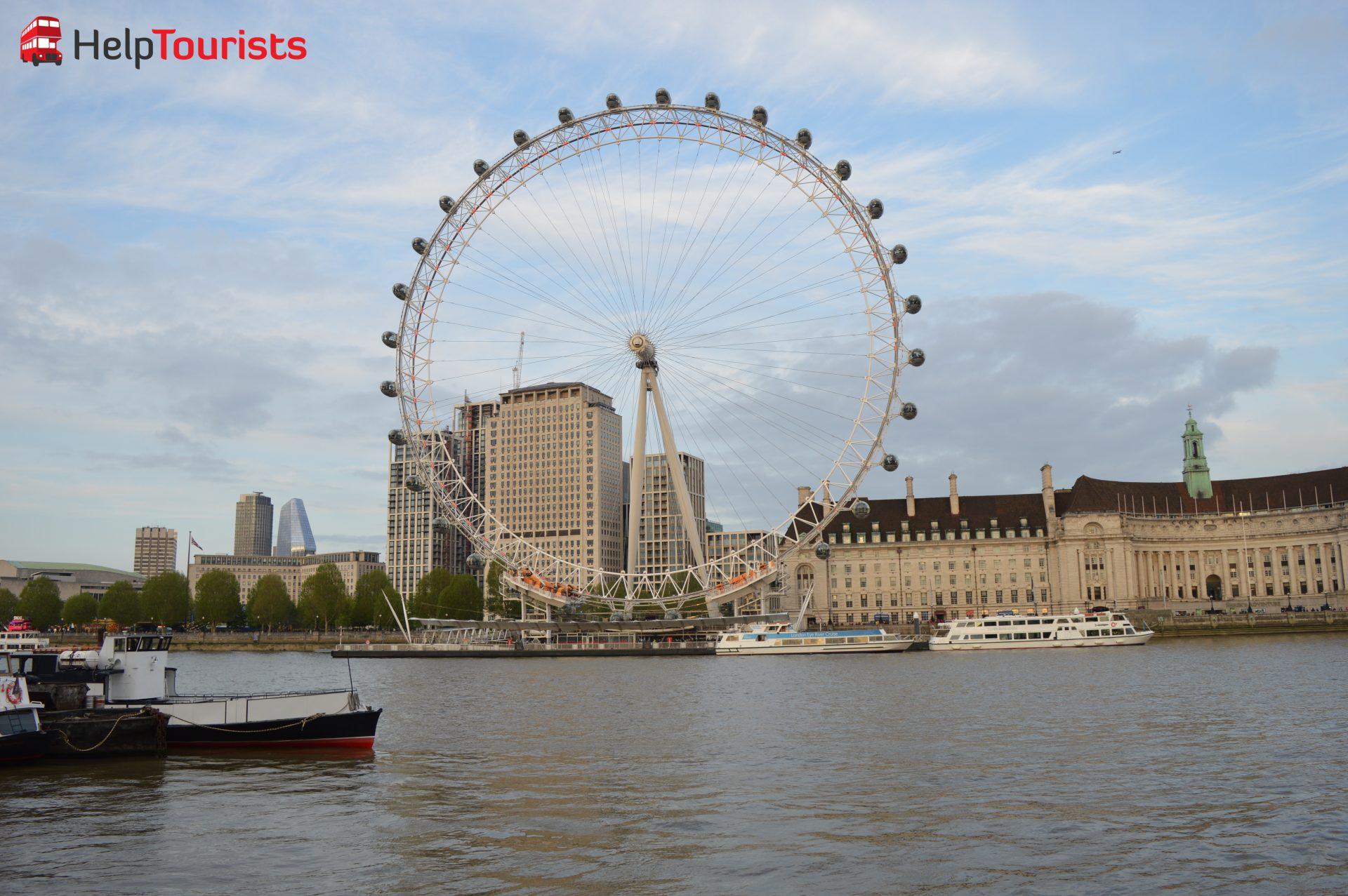 London Eye bei Sonnenuntergang