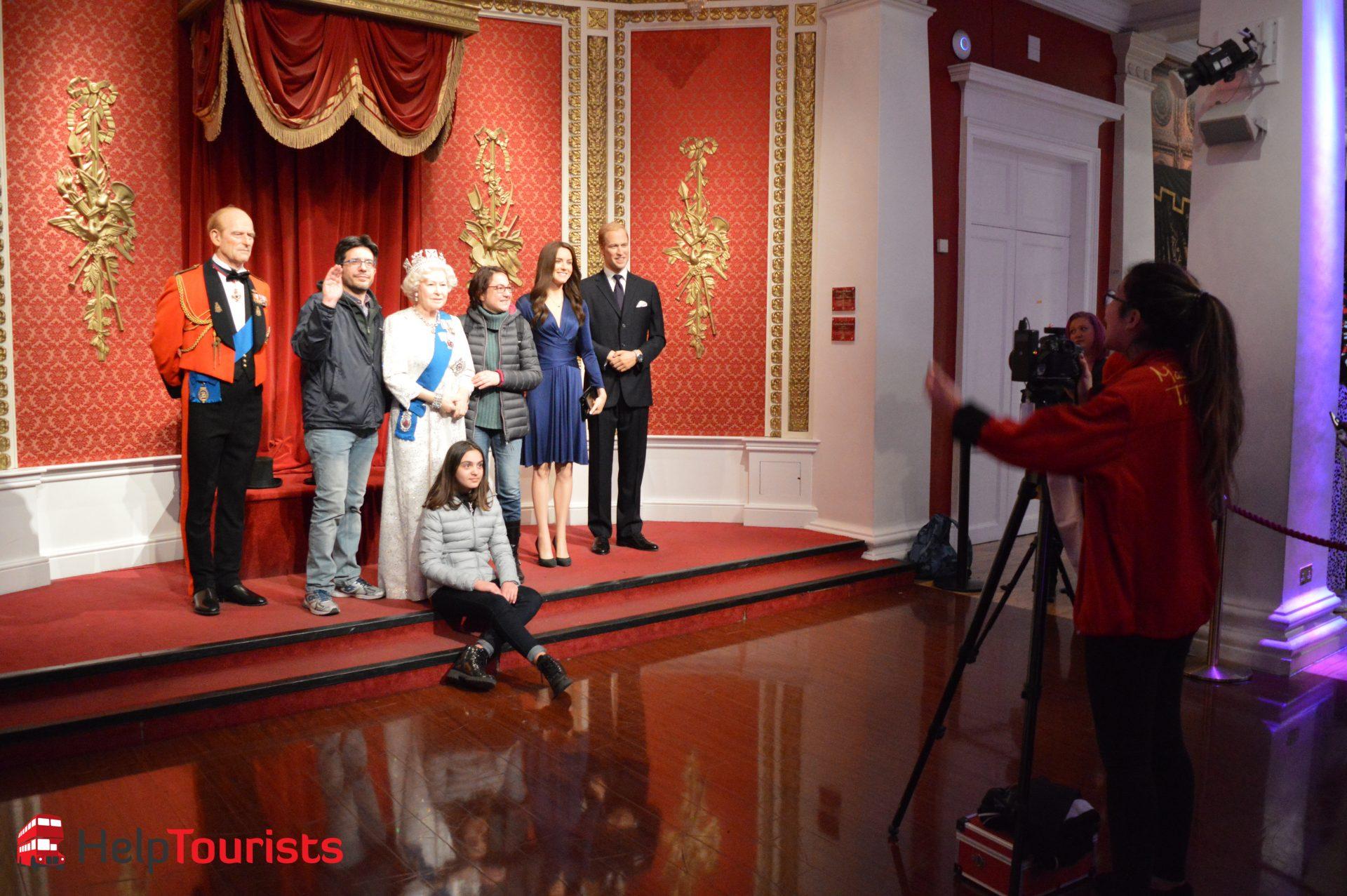 Madame Tussaud's London Foto mit der Königsfamilie