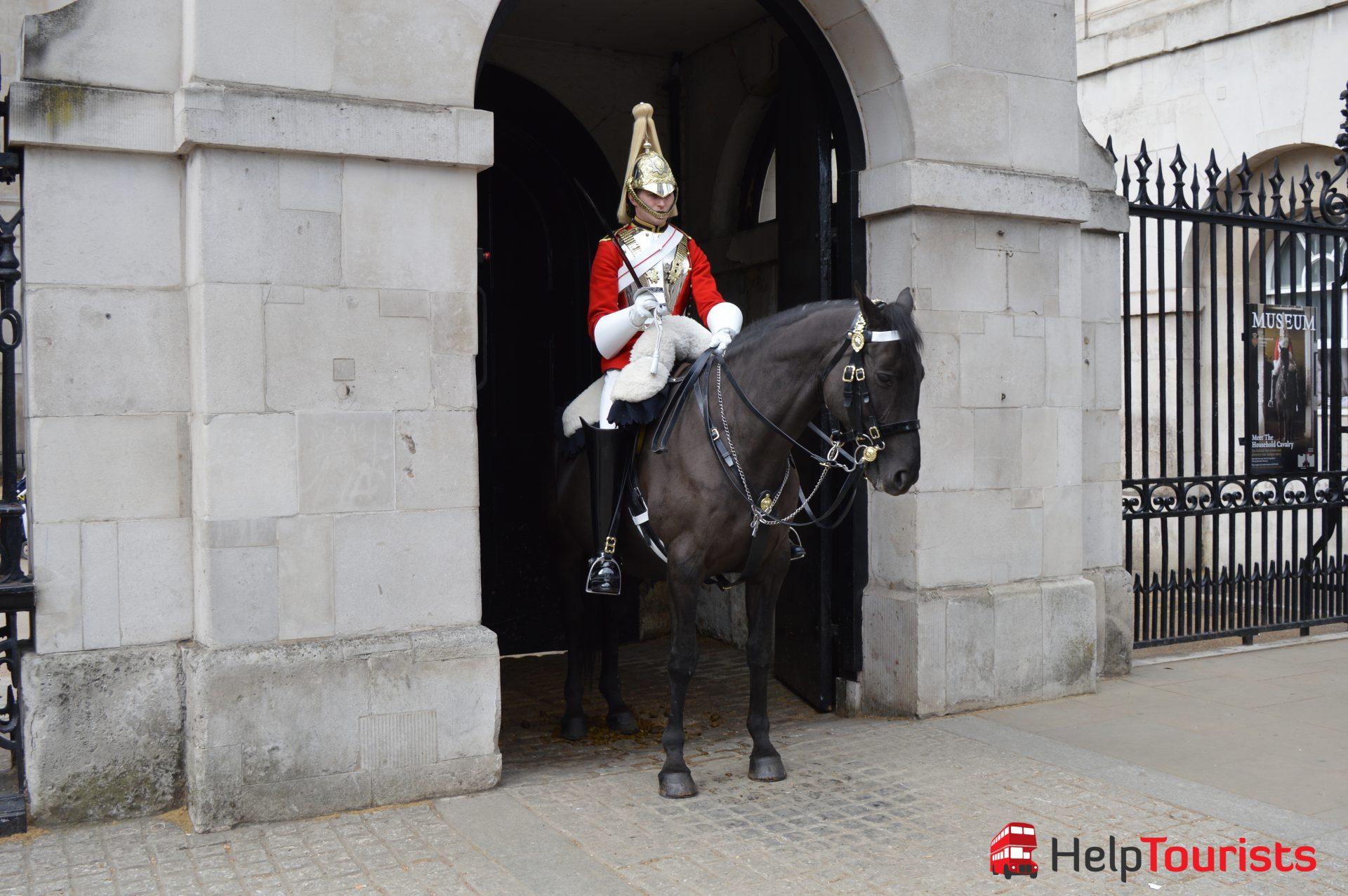 Reiterwache am Banqueting House in London
