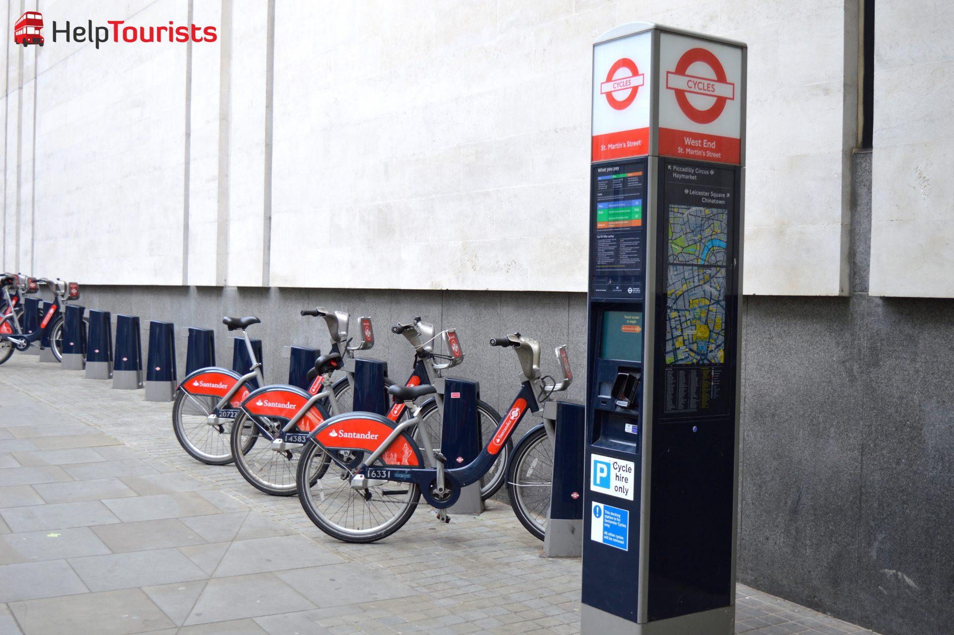 Santander Fahrräder ausleihen in London