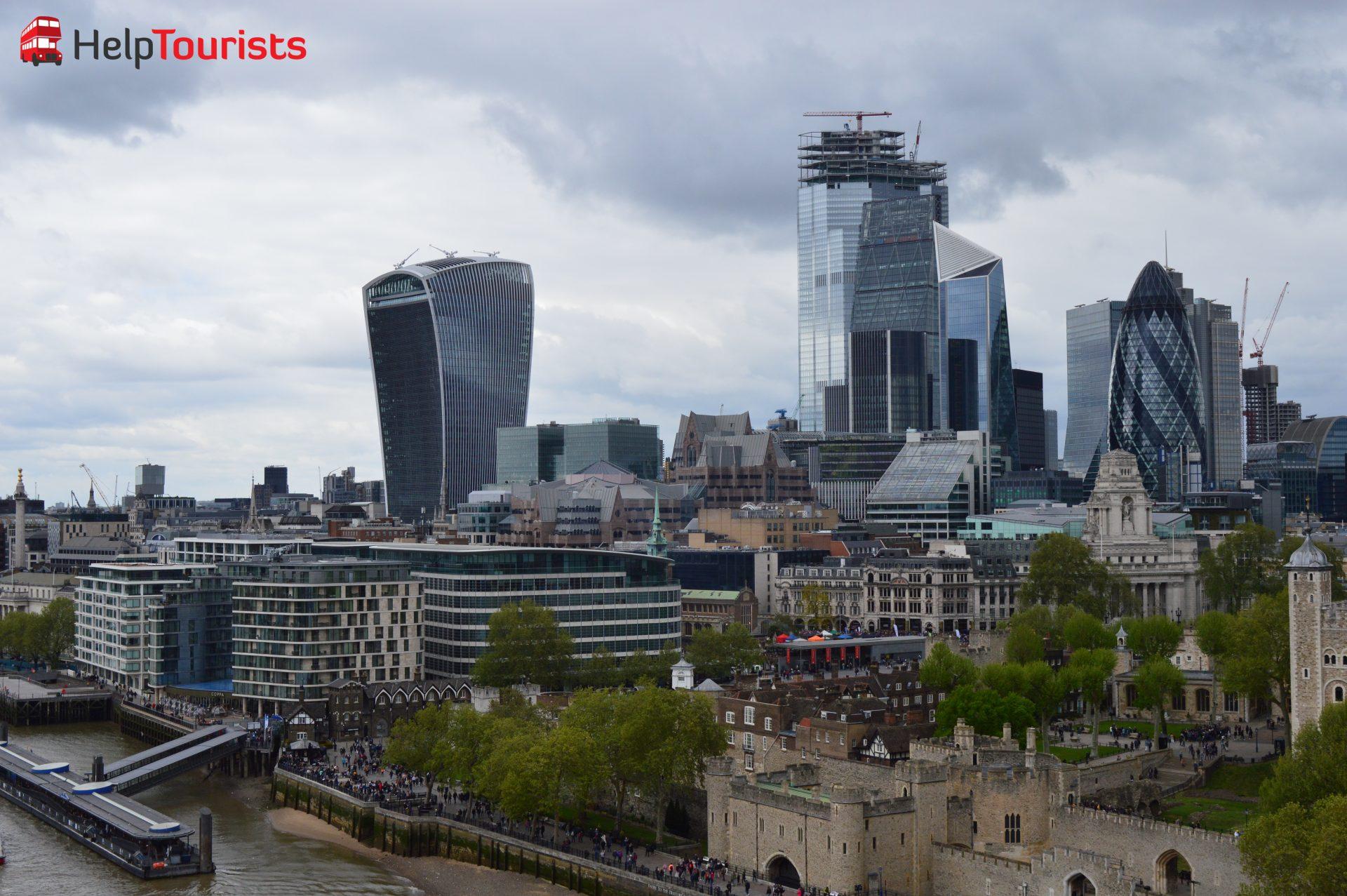 Sky Garden und Tower of London von oben