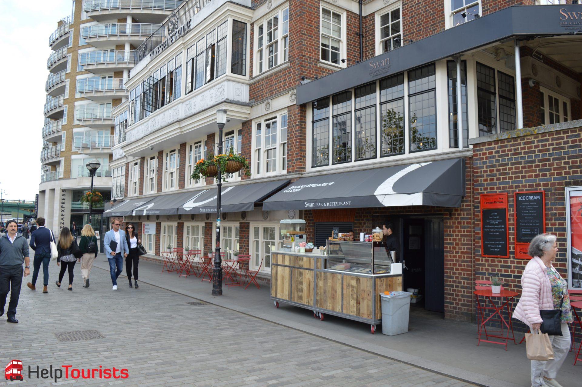 Swan Restaurant und Eis neben Shakespeare's Globe