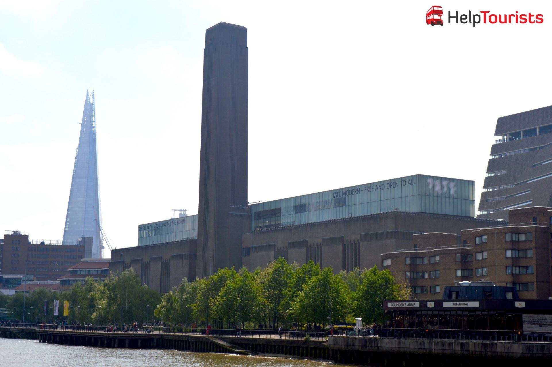 Tate Modern Museum mit Blick auf the Shard