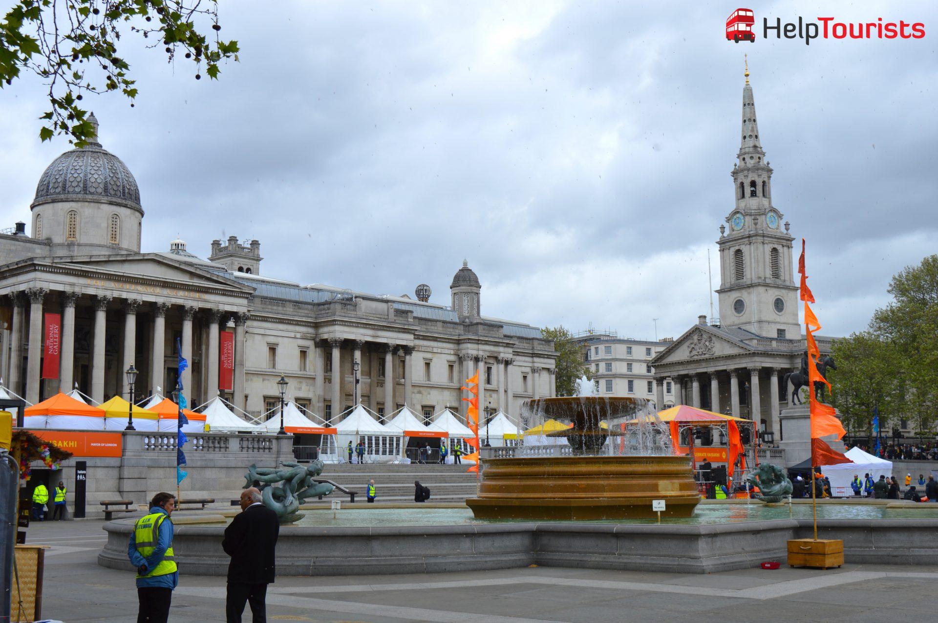 London Festival am Trafalgar Platz