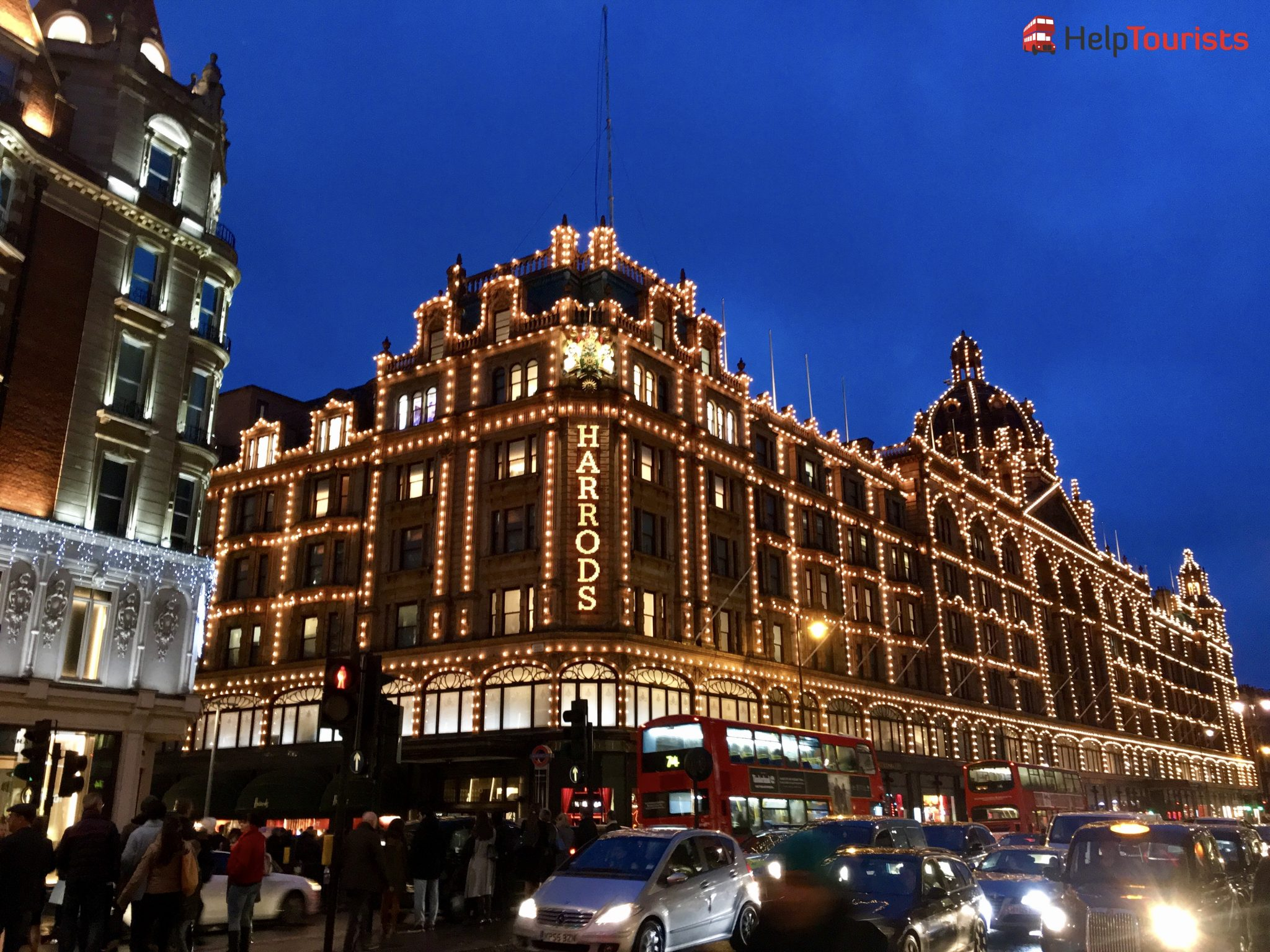 London Weihnachten Harrods Beleuchtung