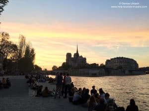 Picknick an der Seine in Paris