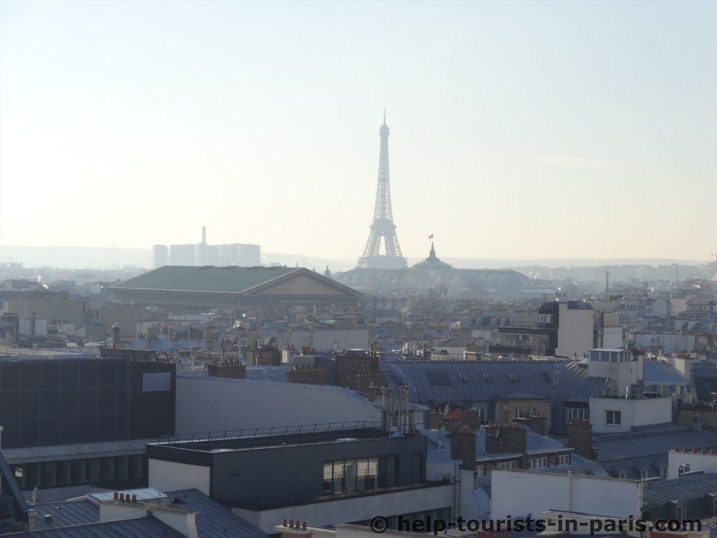 Aussicht Galeries Lafayette bei Smog