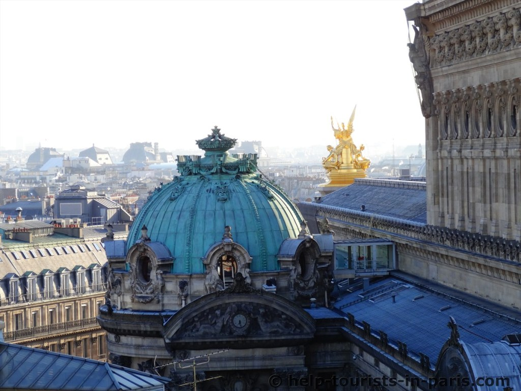 Aussicht Dachterrasse Galeries Lafayette