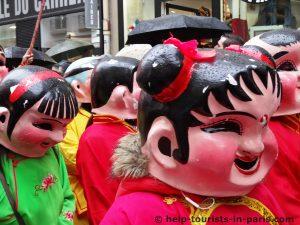 Chinesisches neues Jahr in Paris