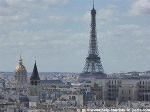 Blick auf den Eiffelturm von Notre Dame