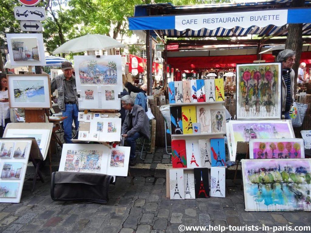 Künstlerplatz Paris