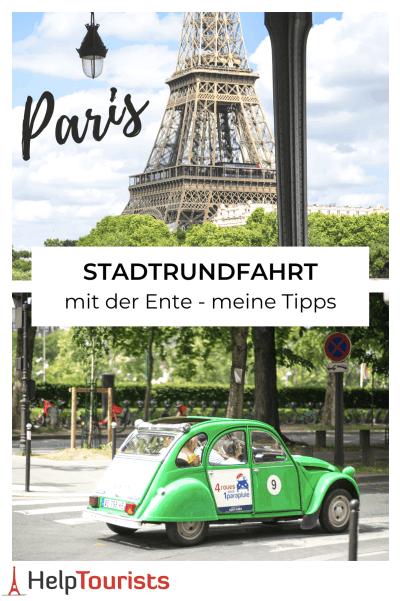 Stadtrundfahrt mit der Ente Paris