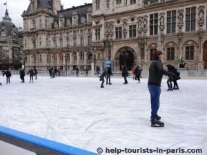 Schlittschuhfahren in Paris