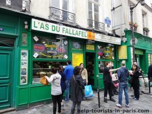 Falafel Rue des Rosiers